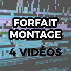 Forfait Montage - 4 Vidéo -...