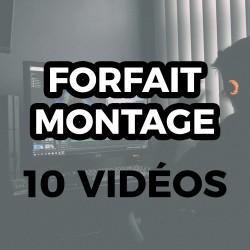 Forfait Montage - 10 Vidéos...