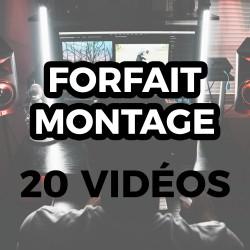 Forfait Montage - 20 Vidéos...