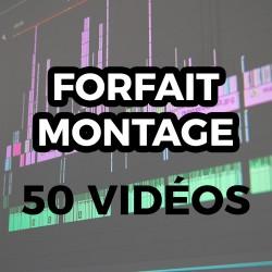Forfait Montage - 50 Vidéos...
